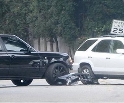 David Beckham ve oğlu Brooklyn trafik kazası geçirdi