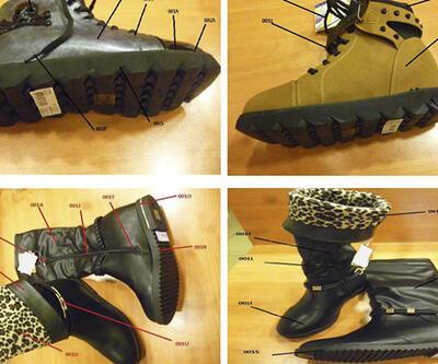 Zehirli ayakkabılar bulundu!