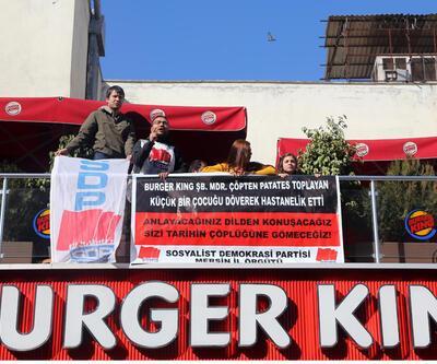 Mersin'de Burger King'i işgal ettiler