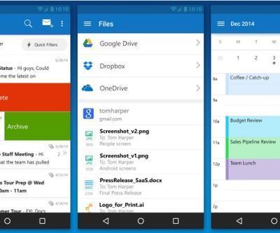iOS ve Android için Microsoft Outlook uygulaması yayınlandı