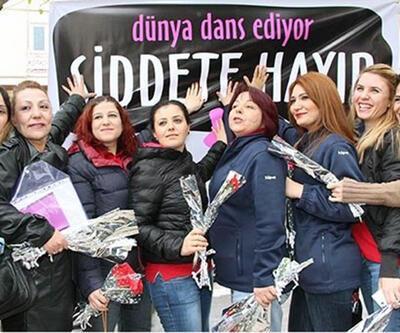 Kadıköy'de kadınlar şiddete karşı dans etti