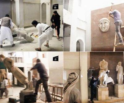 """IŞİD'in parçaladığı heykellerle ilgili iddia: """"Gerçek değillerdi"""""""