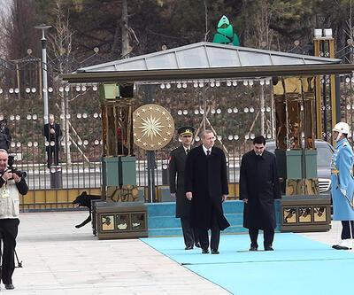Erdoğan, Türkmenistan Devlet Başkanını ağırladı