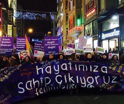 Taksim'de 13. Feminist Gece Yürüyüşü