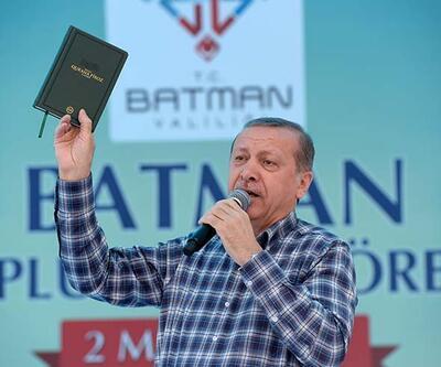 Erdoğan Batman'da Kuran'ı salladı ve HDP'yi hedef aldı