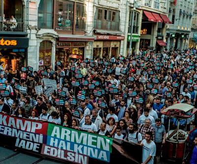 Beyoğlu'nda Kamp Armen yürüyüşü