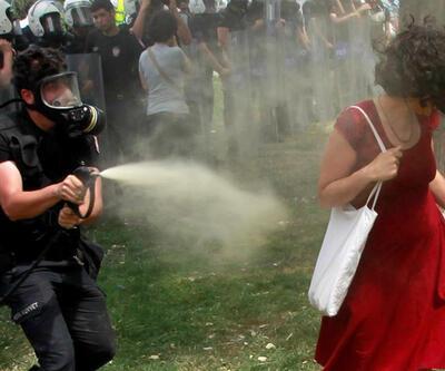 Kırmızılı kadına gaz sıkan polisin cezası belli oldu