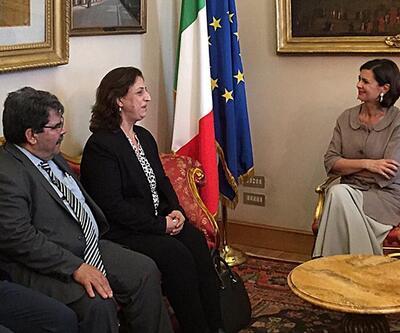 PYD heyeti İtalya'da Rojava için destek arayışında