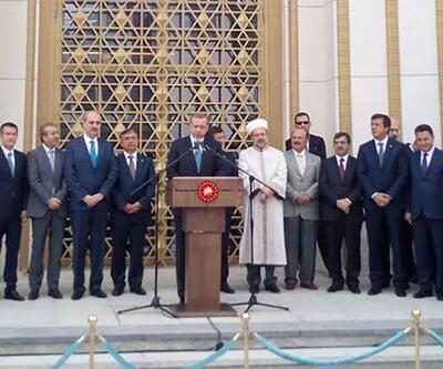 Erdoğan, Beştepe Millet Camii'nin açılışını yaptı