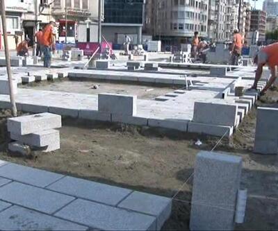 Taksim Meydanı ile Gezi Parkı'nı birleştirme çalışması başladı