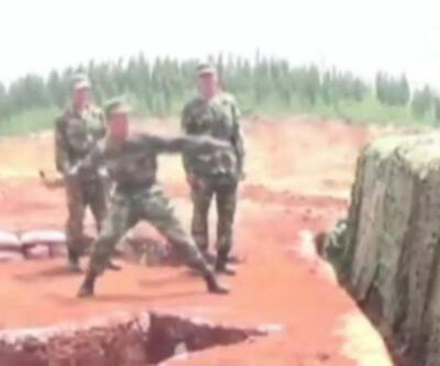 Askerlerin el bombası ile imtihanı