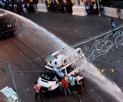Taksim'de Suruç protestosuna polis müdahalesi!