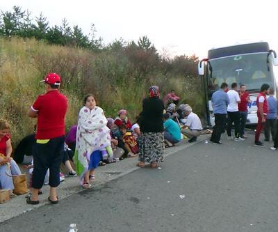 Bolu'da yolcu otobüsü kaza yaptı, yolcular camlardan atladı