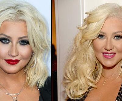 Christina Aguilera'nın yüzüne ne oldu?