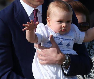 Bir haftalığına Prens George oldu!