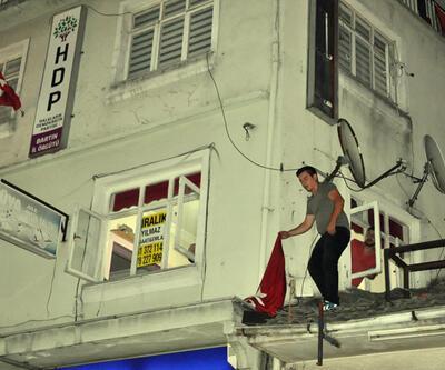 Bartın'da HDP binasına saldırı: 3 gözaltı