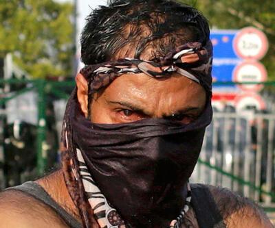 Hırvat polisinden göçmenlere müdahale