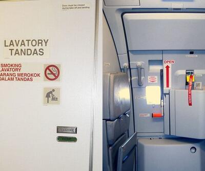 Tuvalet kapısı diye uçağın kapısını açmaya çalıştı!