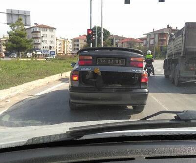 Otomobil bagajında işçi taşıyan şoföre soruşturma
