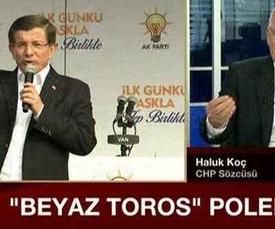 """CHP'den Davutoğlu'na """"beyaz Toros"""" yanıtı"""