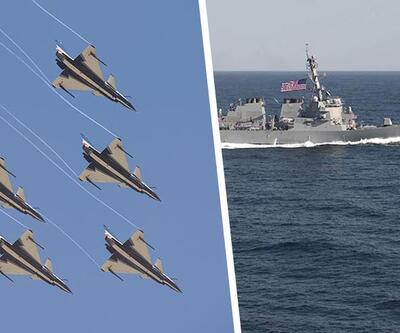 Çin jetleri ABD savaş gemisine karşı havalandı