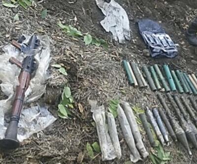 Mezarlık ve türbede PKK cephaneliği bulundu