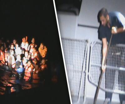 Yunan sahil güvenlik mültecileri taşıyan lastik botu batırmaya çalıştı