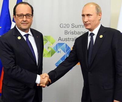 Fransa Cumhurbaşkanı François Hollande Rusya'ya gitti