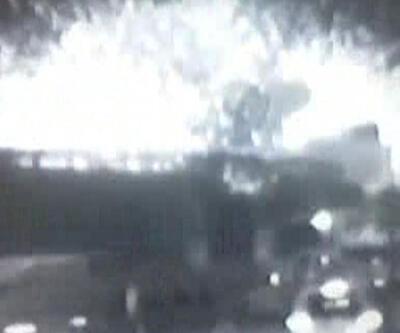 Bayrampaşa'da patlama anı güvenlik kamerasında