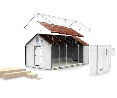 Akıllı İKEA evleri sığınmacı kamplarının yeni konutları oluyor