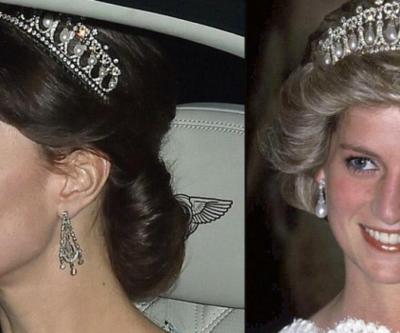 Kate Middleton kayınvalidesinin tacını taktı