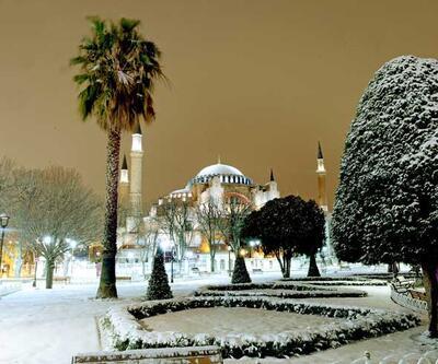 İstanbul'da muhteşem kar manzarası