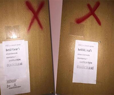 Akademisyenlerin Üniversitedeki odalarının kapısına çarpı kondu, tehdit mesajı bırakıldı