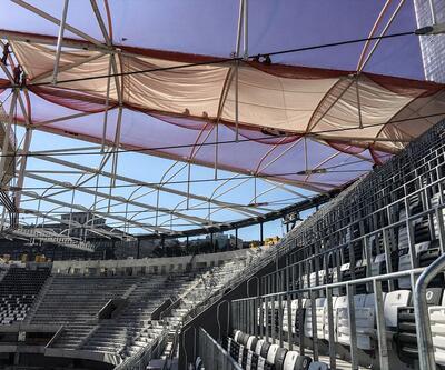 Vodafone Arena'da membran serilme işlemi başladı