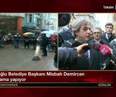 Beyoğlu Belediye Başkanı Demircan'dan çöken binalar açıklaması