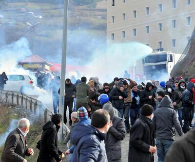 Artvin'de Cerattepe'ye yürümek isteyenlere polis müdahalesi