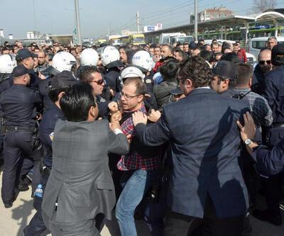 Renault işçilerinin eylemine polis müdahalesi