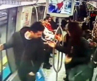 Metroda bomba şakası kamerada