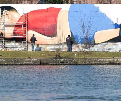 Aylan dev grafitti ile ölümsüzleştirildi