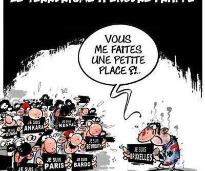 Brüksel saldırılarının ardından karikatürler
