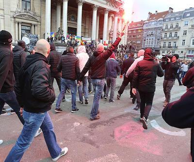 Brüksel'de aşırı sağcılar eylem yaptı