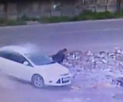 Diyarbakır'daki saldırı... Bombalı aracın bırakılma anı kamerada