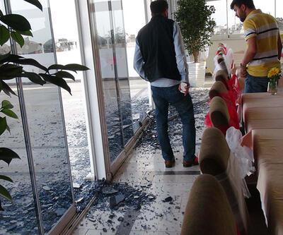 Kilis'te otel terasında korkutan patlama