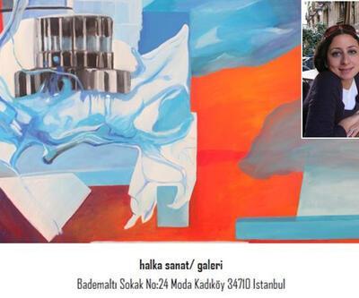 """Burcu Ayan Ergen'in """"Kolaj Eskizler ve Resimleri"""" sergisi açılıyor"""