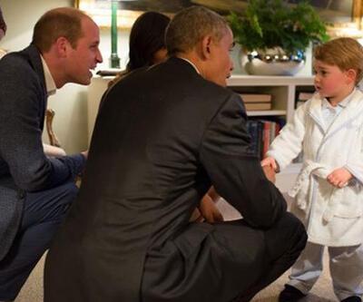 Obama küçük Prens George'la görüştü
