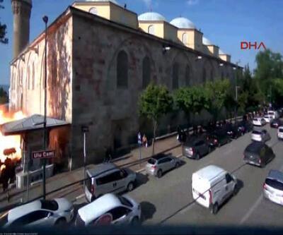 Bursa'daki patlama anının yeni görüntüleri ortaya çıktı