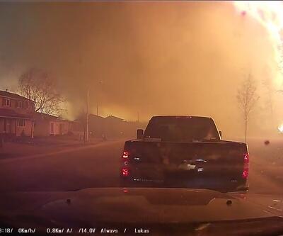 Kanada'daki yangında kıyamet görüntüleri