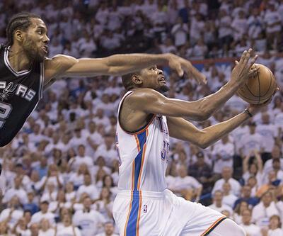 Thunder, Spurs'a teslim olmadı