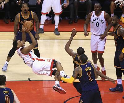 """Raptors, Cavaliers'ın 10 maçlık galibiyetine """"dur"""" dedi"""