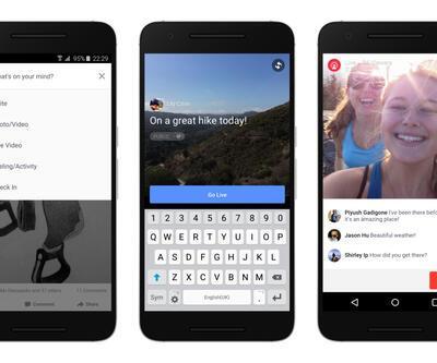Facebook'ta 24 saat canlı yayın dönemi başladı